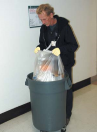 Taking out trash